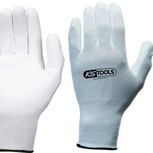 12 gants microfibres blanc