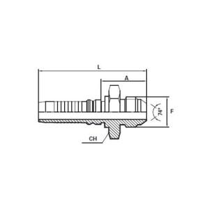 Embout Interlock mâle JIC cône 74°