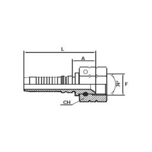 Embout Interlock JIC cône 74°