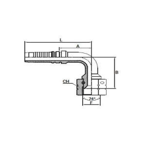 Embout Interlock femelle JIC cône 74° à 90°