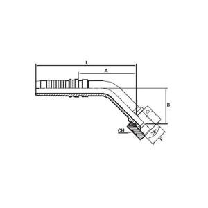 Embout Interlock femelle JIC cône 74° à 45°