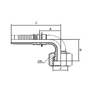 Embout Interlock femelle ORFS 90°