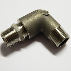 Coude 90° égal MGC1/2 conique en inox 316L