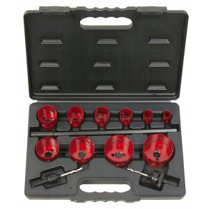 Coffret de 10 scies cloches, de 19 à 67 mm