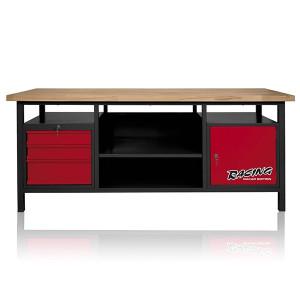 Etabli professionnel d'atelier (extra long) 1 porte et 3 tiroirs