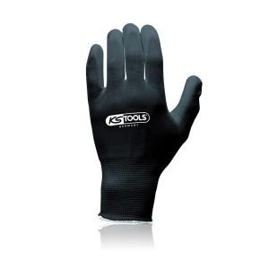 12 gants microfibres noirs